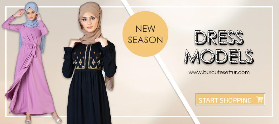 edee26a7c9157 Tesettür Elbise, Tesettür Elbise Modelleri ve Fiyatları, Burcutesettur.com  -İstanbul